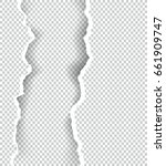 ripped paper transparent with... | Shutterstock .eps vector #661909747