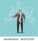 hospital spinal patient | Shutterstock .eps vector #661911319