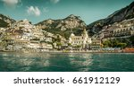 amalfi coast   panorama of... | Shutterstock . vector #661912129