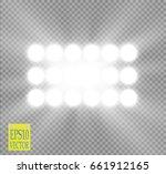 white vector spotlight light...   Shutterstock .eps vector #661912165