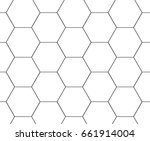 grey hexagon pattern background. | Shutterstock .eps vector #661914004