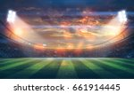 lights at night and stadium 3d... | Shutterstock . vector #661914445