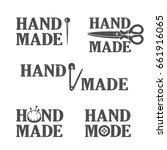 set of atelier logo  hand drawn ... | Shutterstock .eps vector #661916065