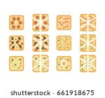 set of different kind of square ... | Shutterstock .eps vector #661918675