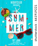 poster for summer party. top... | Shutterstock .eps vector #661919221