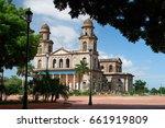 central square in managua on... | Shutterstock . vector #661919809