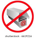 no spam e mail | Shutterstock . vector #6619216