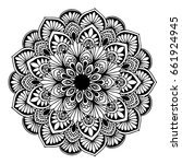mandalas for coloring book....   Shutterstock .eps vector #661924945