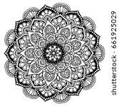 mandalas for coloring book.... | Shutterstock .eps vector #661925029