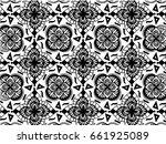 mandala pattern. ethnic... | Shutterstock .eps vector #661925089