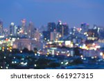 night blurred bokeh city... | Shutterstock . vector #661927315