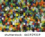 background of different colored ... | Shutterstock .eps vector #661929319