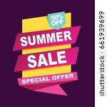 summer sale banner. vector... | Shutterstock .eps vector #661939699