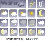 weather icons | Shutterstock .eps vector #6619444