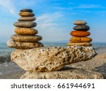 Colorful Stones Stacks  Five...