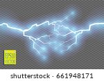 blue abstract energy shock... | Shutterstock .eps vector #661948171