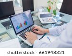 business man pointing on... | Shutterstock . vector #661948321
