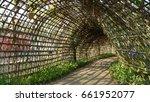 wood tunnel | Shutterstock . vector #661952077