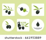 black and green olives with oil ... | Shutterstock .eps vector #661953889