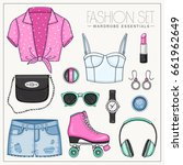 vector sport fashion set of... | Shutterstock .eps vector #661962649