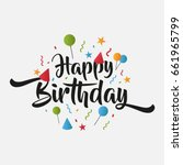 isolated birthday greeting card ... | Shutterstock .eps vector #661965799