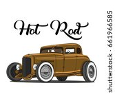 hot rod brown | Shutterstock .eps vector #661966585