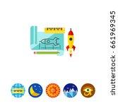 prototype rocket icon | Shutterstock .eps vector #661969345