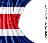 costa rica flag of silk with... | Shutterstock . vector #661972999