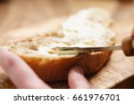 young female hands spreading... | Shutterstock . vector #661976701
