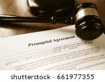 prenuptial contract and court... | Shutterstock . vector #661977355