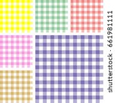 picnic table cloth. color... | Shutterstock .eps vector #661981111