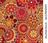 luxury oriental tile seamless... | Shutterstock .eps vector #661984045