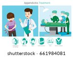 doctor diagnose and operate on... | Shutterstock .eps vector #661984081