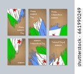 djibouti patriotic cards for... | Shutterstock .eps vector #661990249