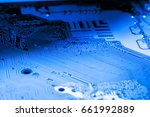 abstract close up of electronic ... | Shutterstock . vector #661992889