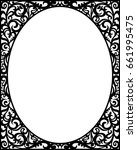 black outline vintage classic... | Shutterstock .eps vector #661995475