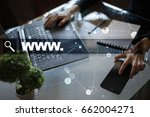 search bar with www text. web... | Shutterstock . vector #662004271