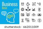 basic business administration.... | Shutterstock .eps vector #662011009