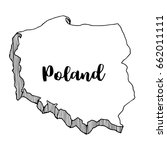hand drawn of poland map ...   Shutterstock .eps vector #662011111