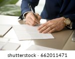 businessman having signatory... | Shutterstock . vector #662011471