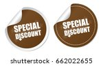 special discount stickers | Shutterstock .eps vector #662022655