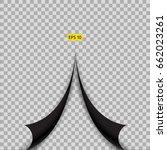 black flipped corners on... | Shutterstock .eps vector #662023261