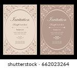 invitation card vector design   ... | Shutterstock .eps vector #662023264