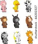 animals cartoon set in vector... | Shutterstock .eps vector #66202327