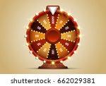 shining wheel of fortune.... | Shutterstock .eps vector #662029381