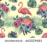 seamless vintage style pattern... | Shutterstock . vector #662029681