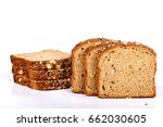 multi grain bread with slices | Shutterstock . vector #662030605