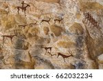 Cave Paintings Of Primitive Ma...
