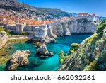 aerial view at famous european... | Shutterstock . vector #662032261