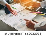two businessman investment... | Shutterstock . vector #662033035
